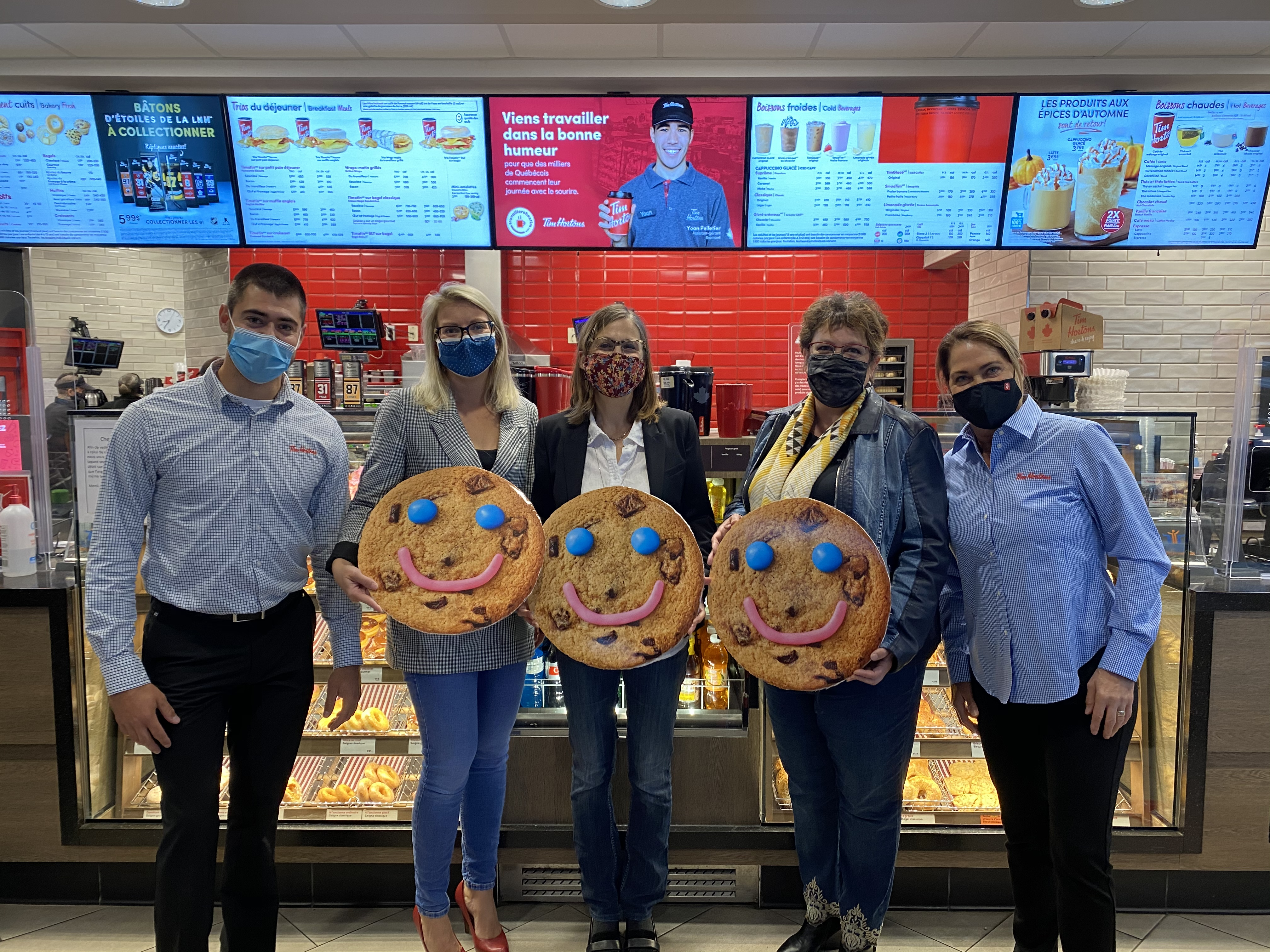 Campagne Biscuits Sourire Tim Hortons à Rimouski.