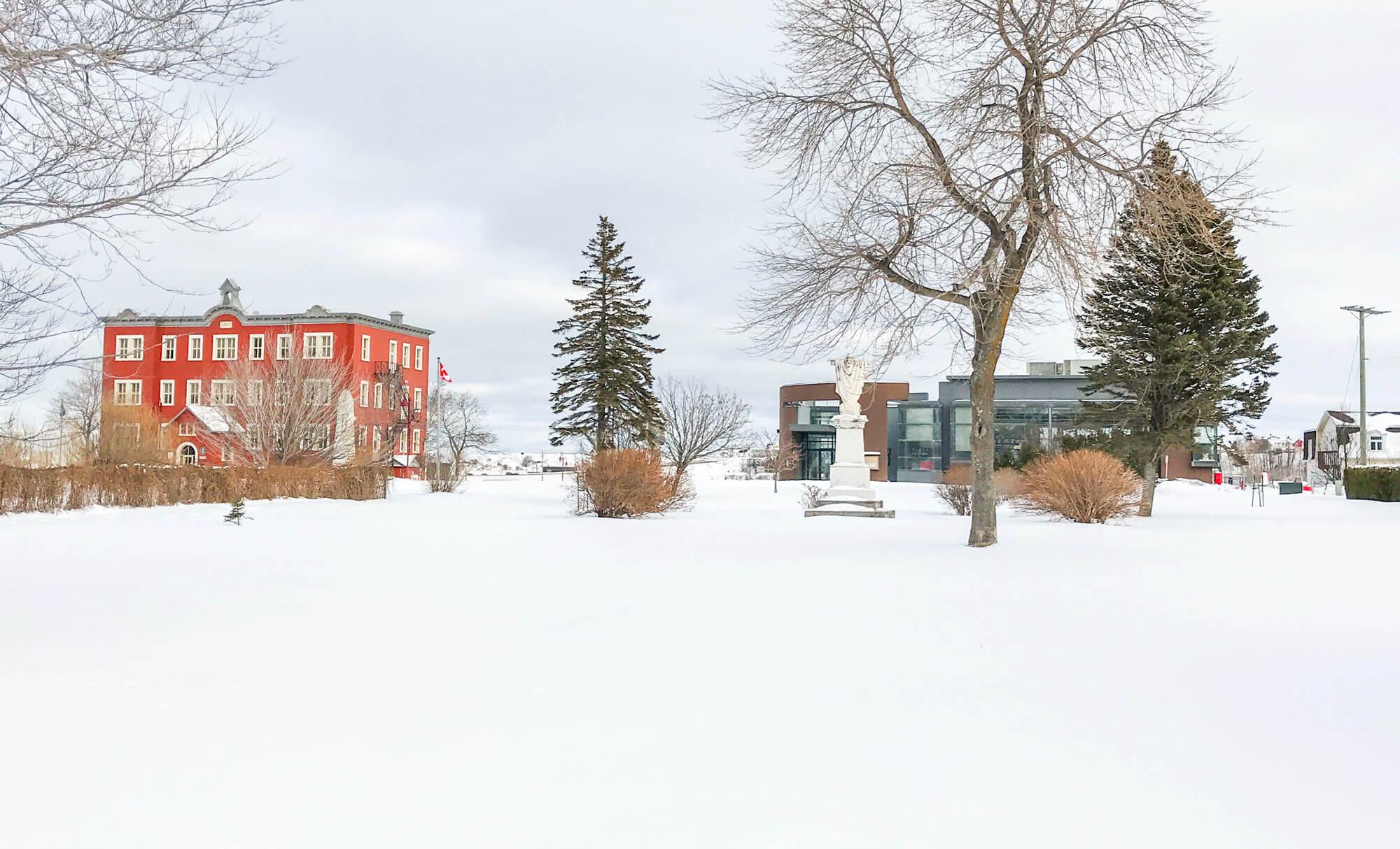 Parc du presbytère Matane projet verger jardins fruitiers de la bibliothèque