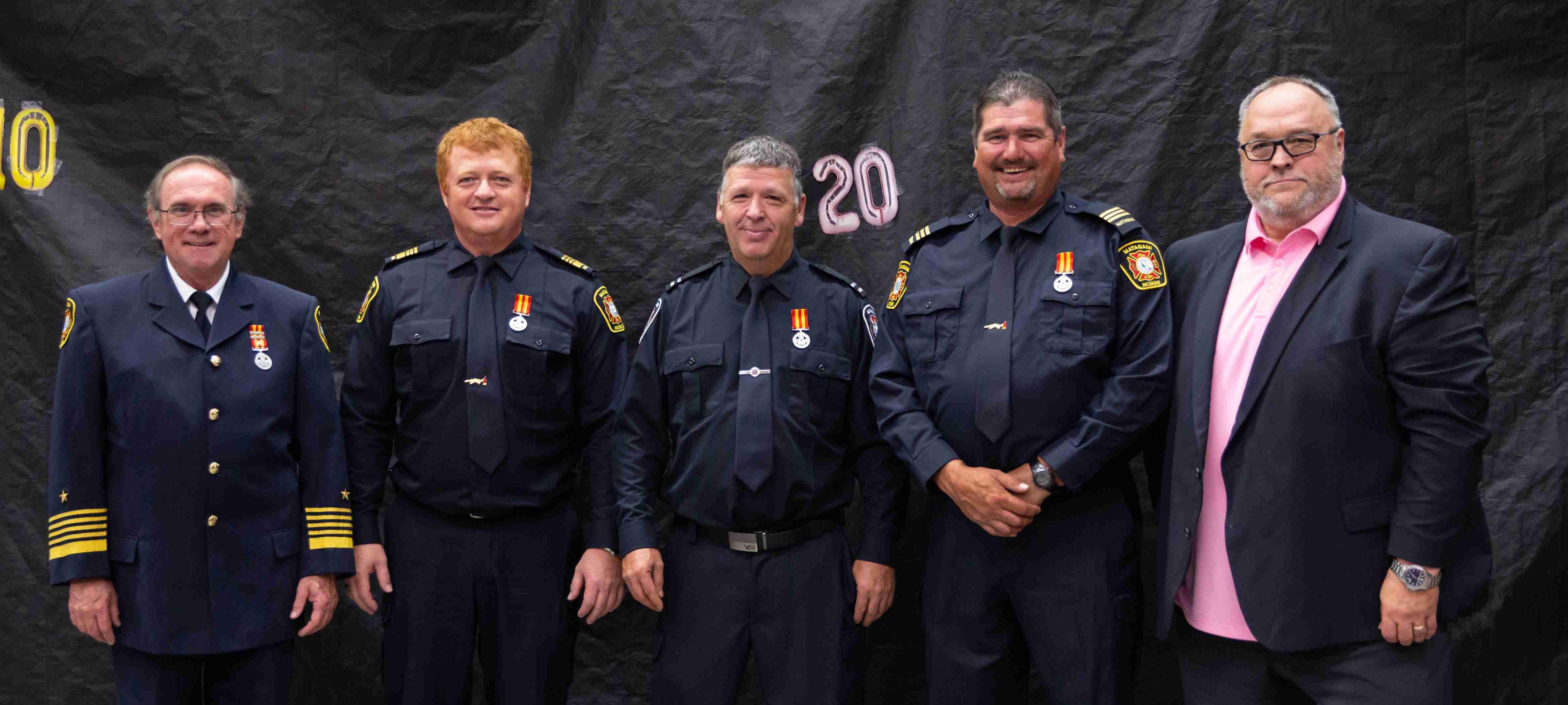 Pompiers Matagami honorés