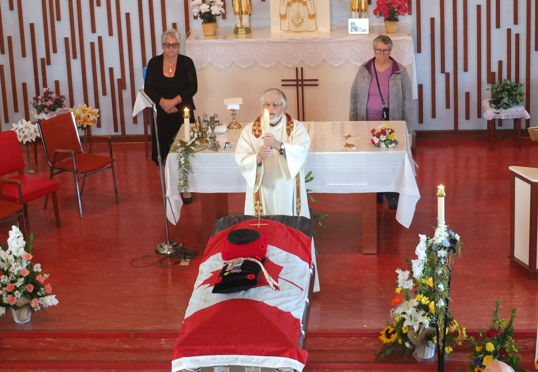 Funéraille militaire curé