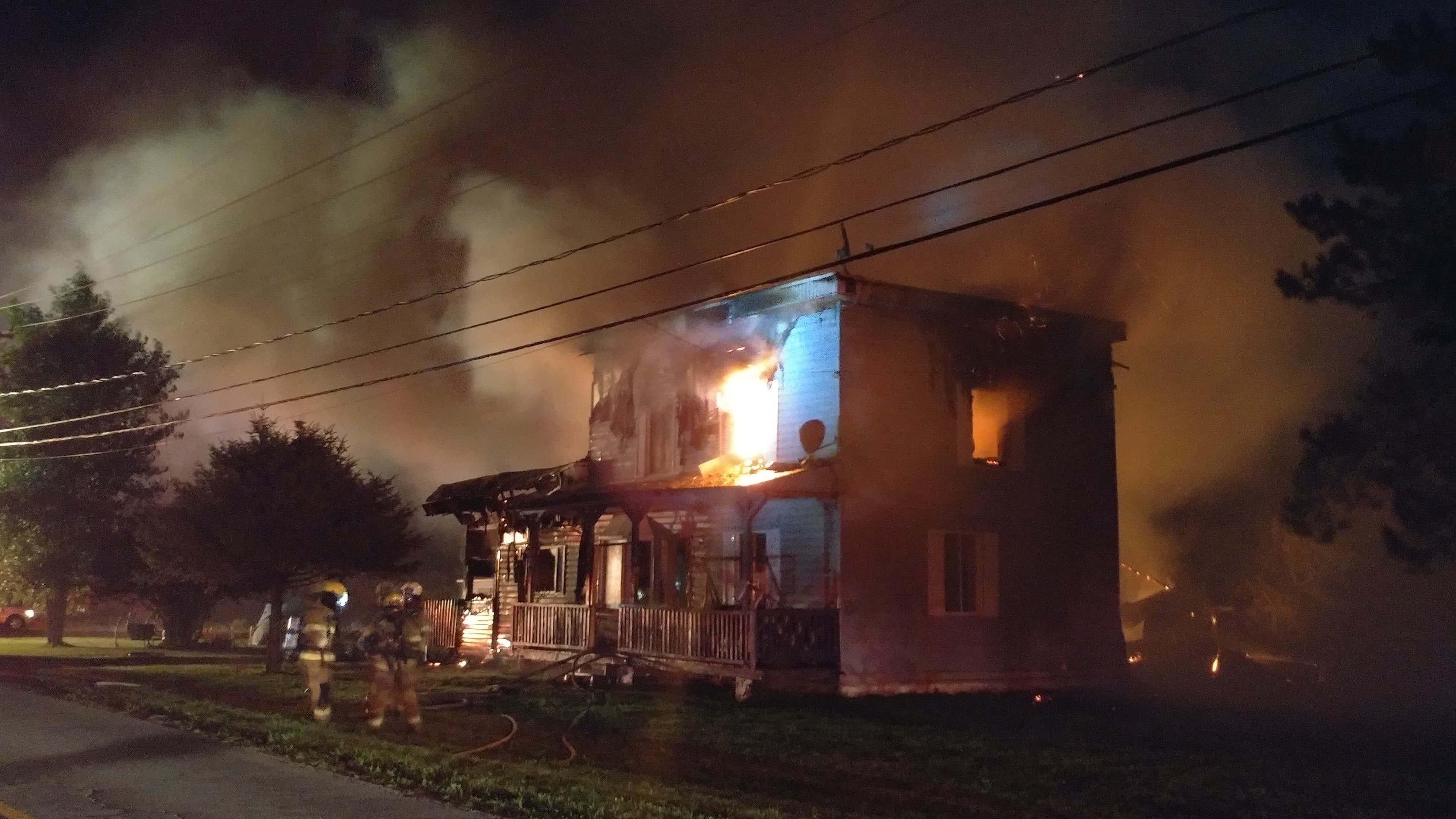 incendie à Saint-Roch-de-l'Achigan