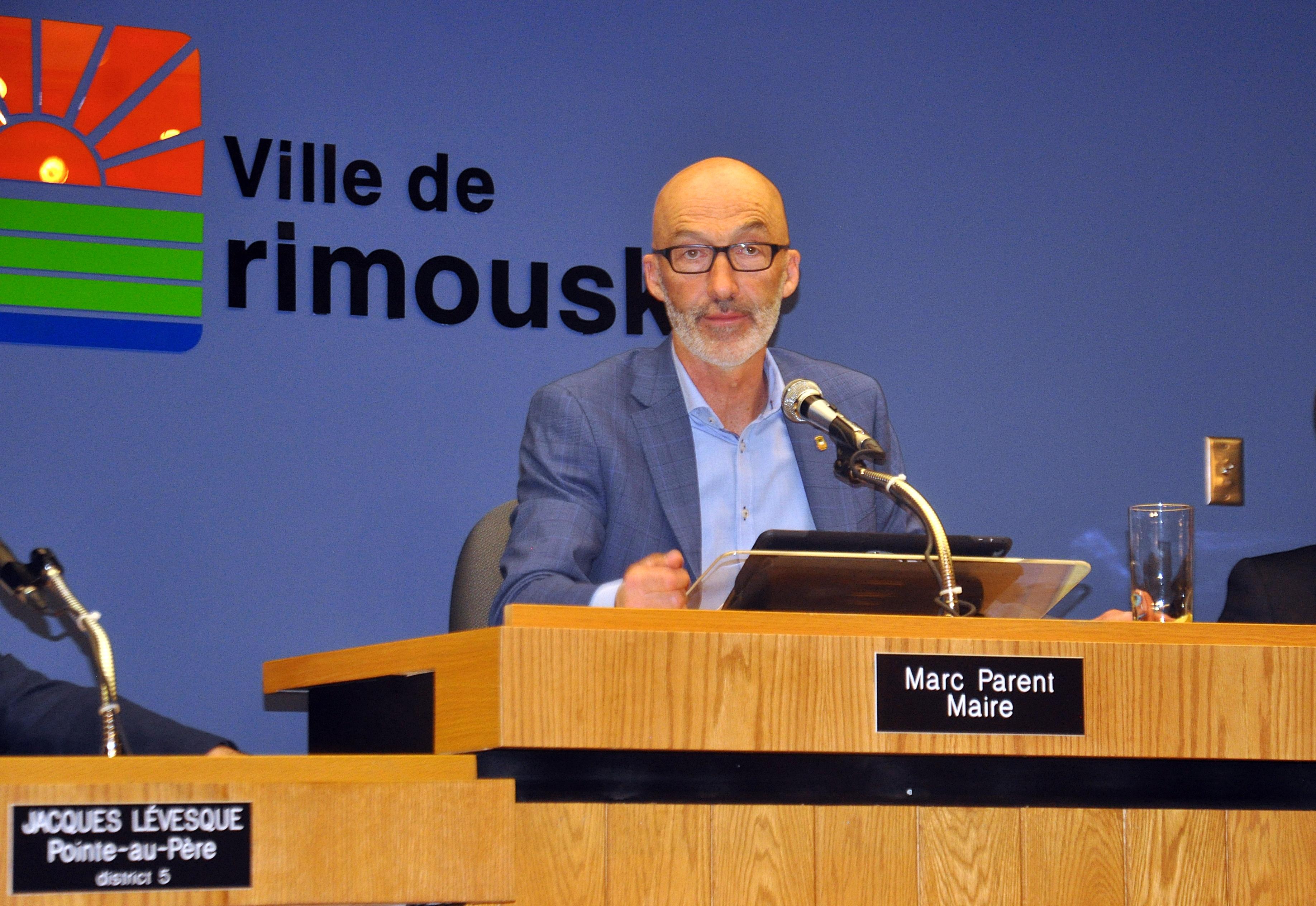 Le maire de Rimouski, Marc Parent.