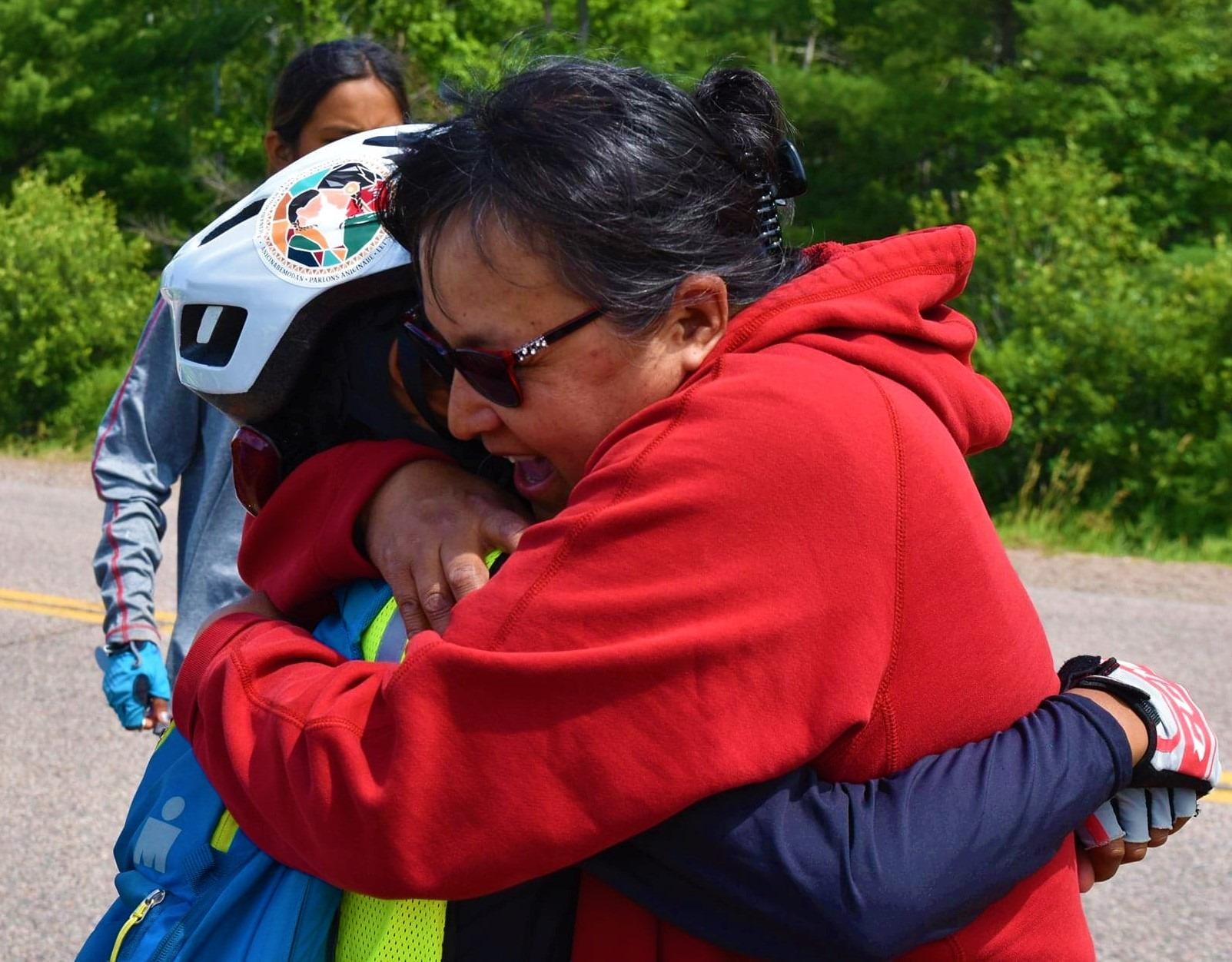 Cyclistes de Kitcisakik val-d'or 2019 communauté entraide