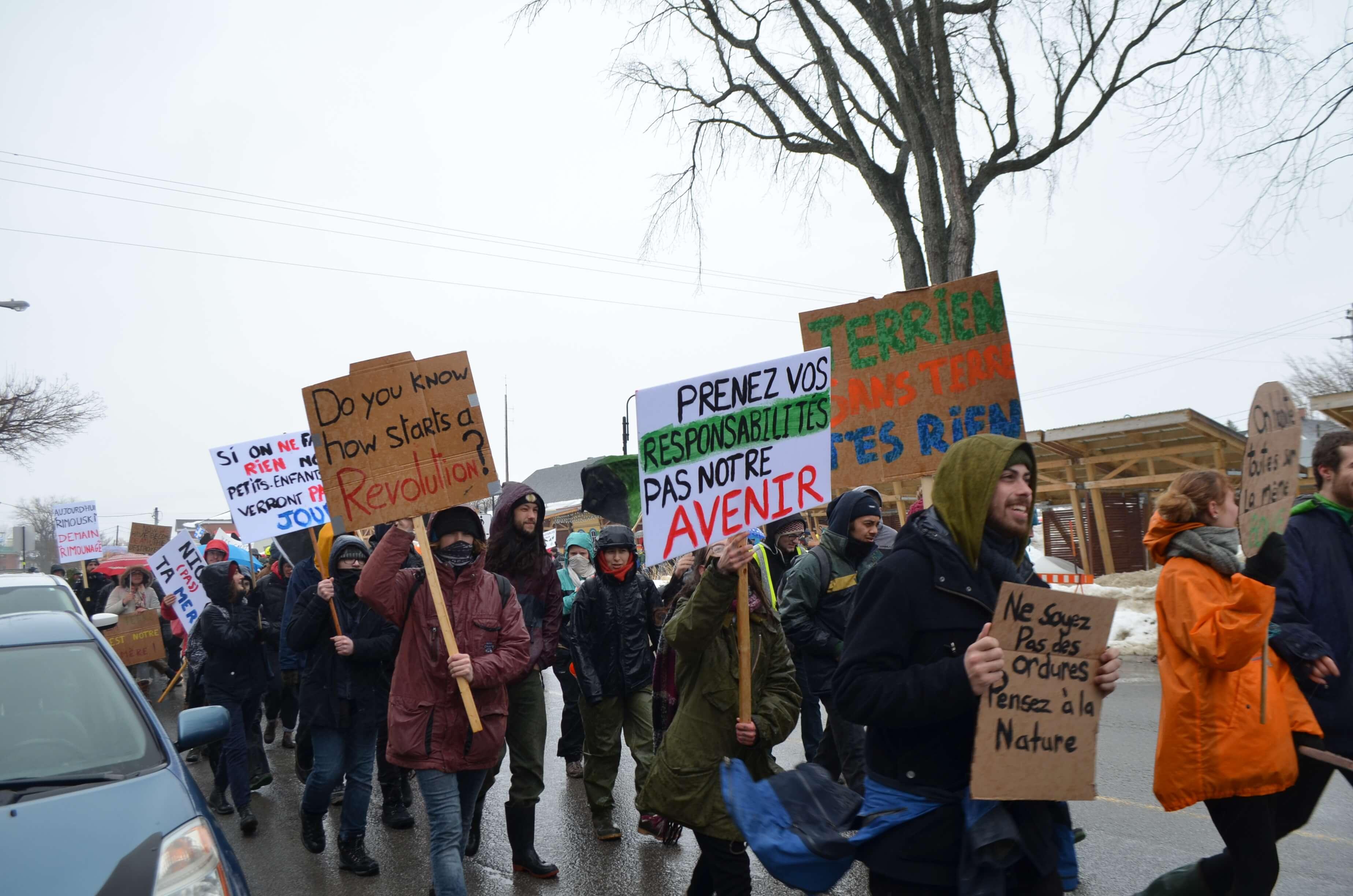 Marche pour le climat à Rimouski