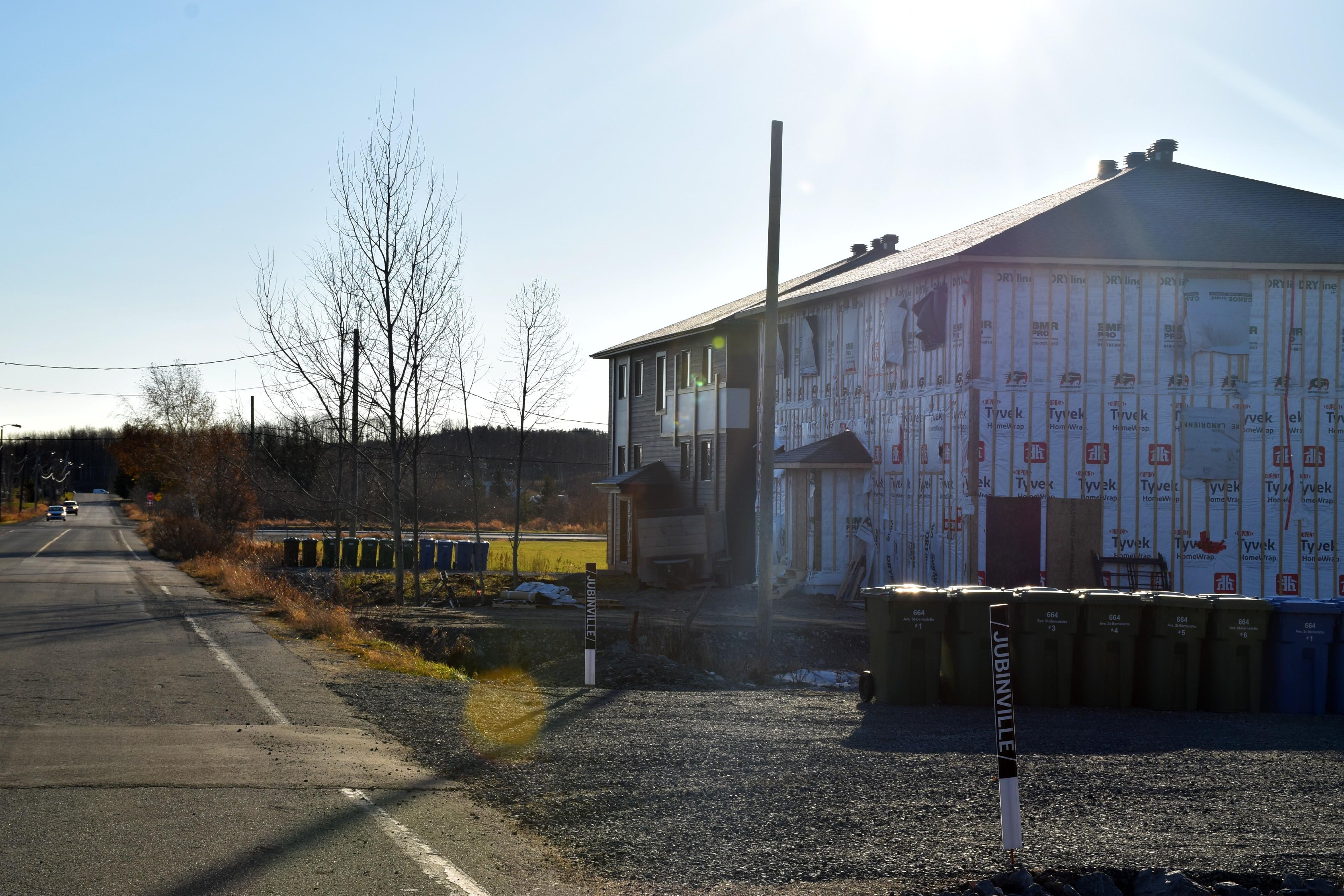 Terrains Ste-Bernadette rouyn-Noranda construction développement résidentiel maison tyvek