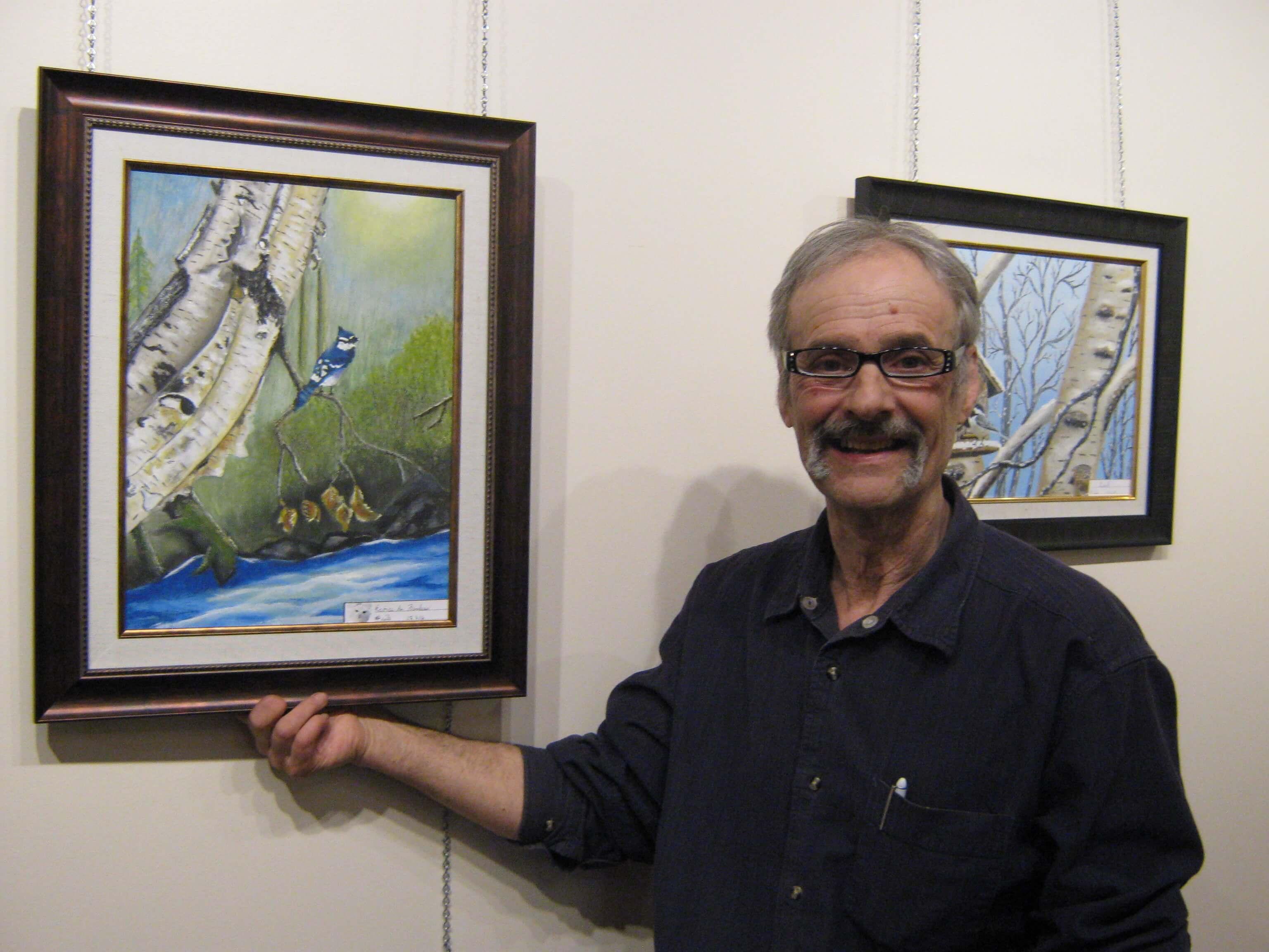 L'artiste-peintre Réal Bélanger.