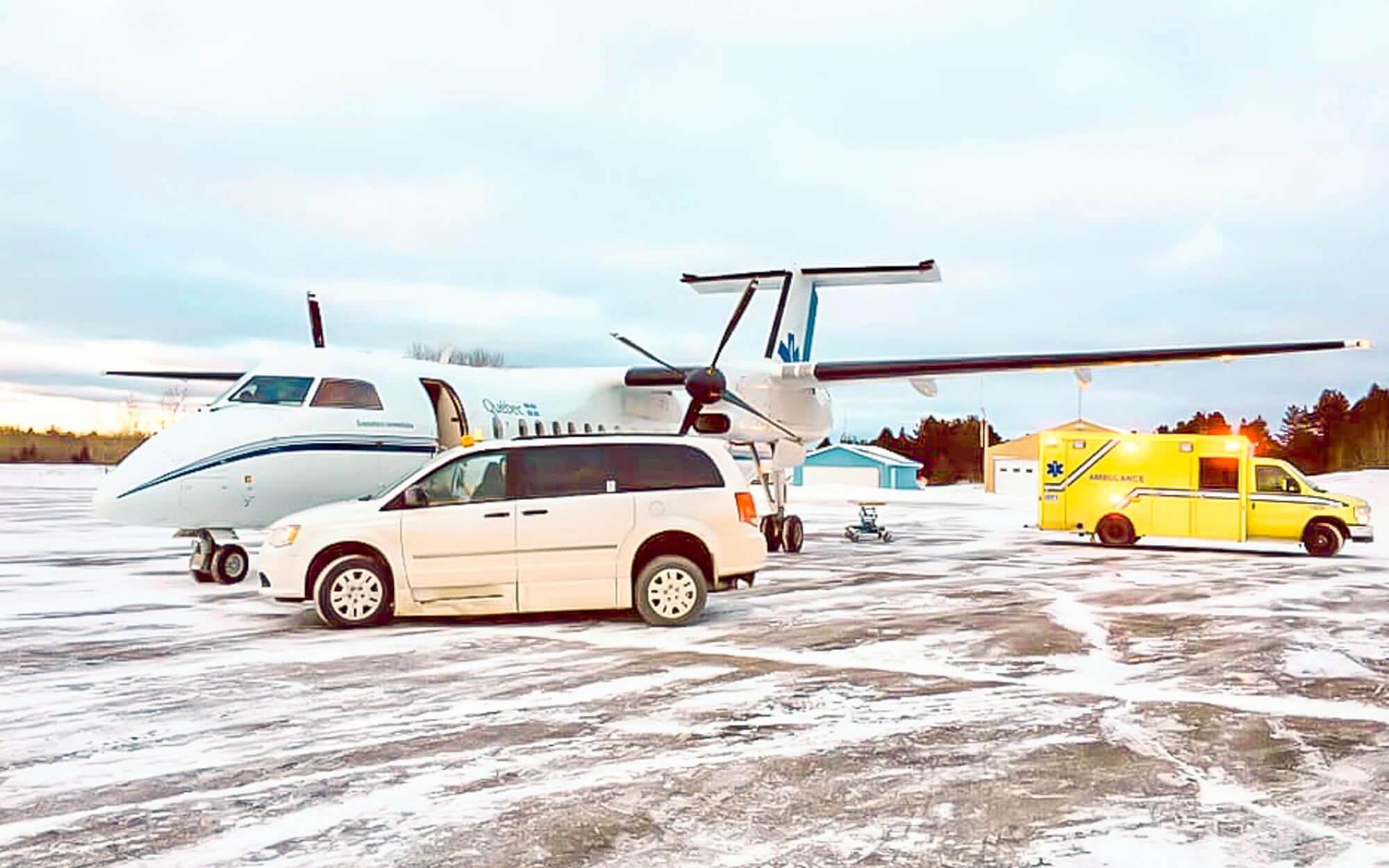 Aéroport Matane évacuation médicale