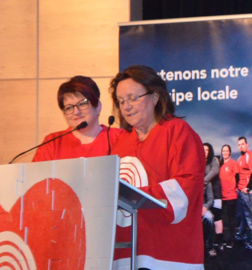 Les coprésidentes régionales de la campagne Centraide 2018, Chantale Lavoie et Guylaine Sirois,