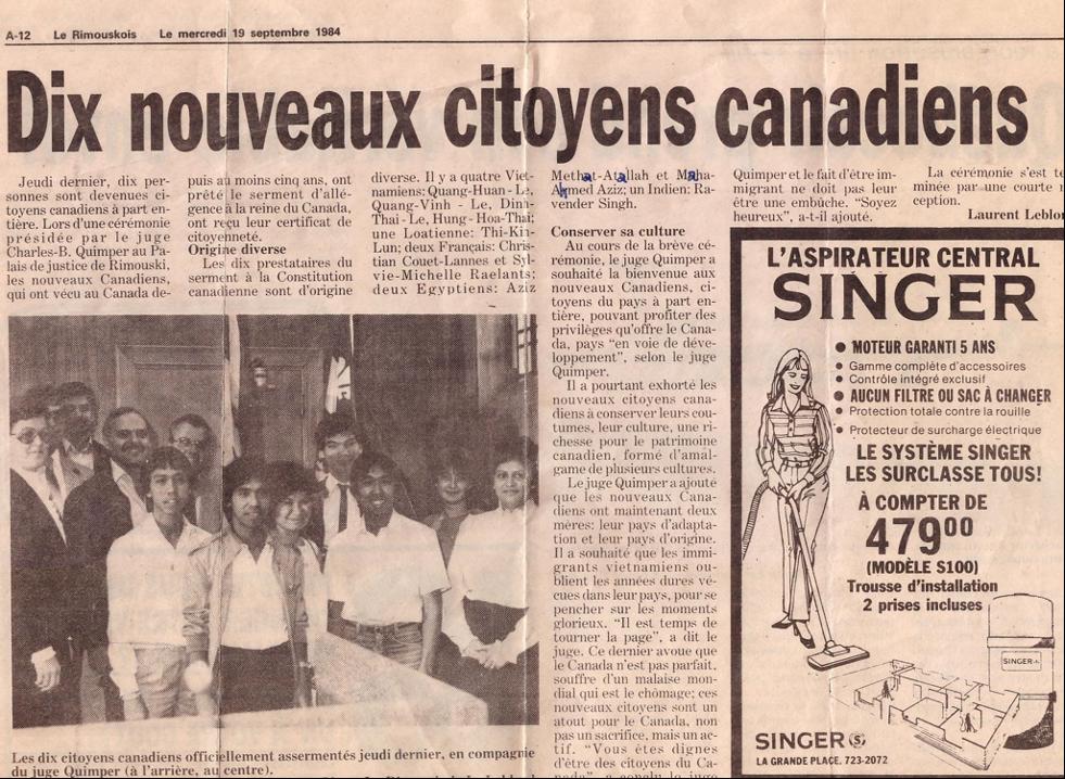 Le 3 mai 1981, notre histoire d'immigration! PAR MOCHIRA ATALLAH