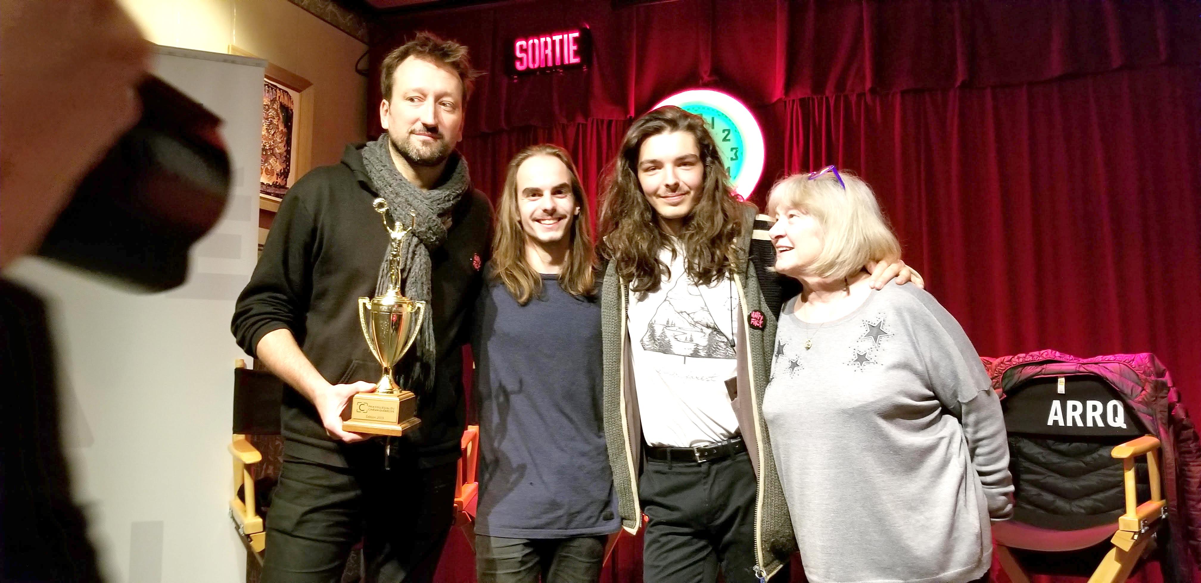 Lionel lors de son expérience au Prix collégial du cinéma québécois