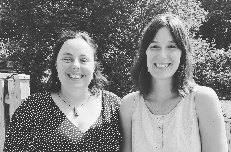 Les deux nouvelles coordonnatrices-cogestionnaires de La Débrouille : Geneviève Lévesque et Marie Beauchesne.