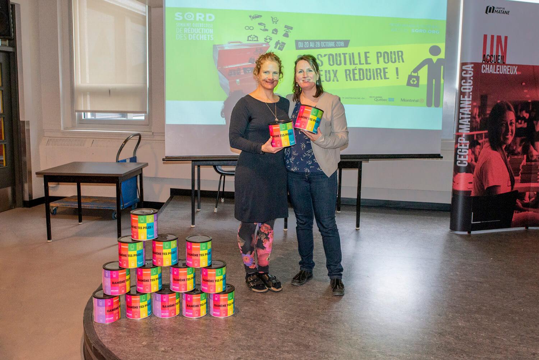 Margaret Kraenzel Nathalie Girard enseignantes Cégep Matane campagne réduction déchets