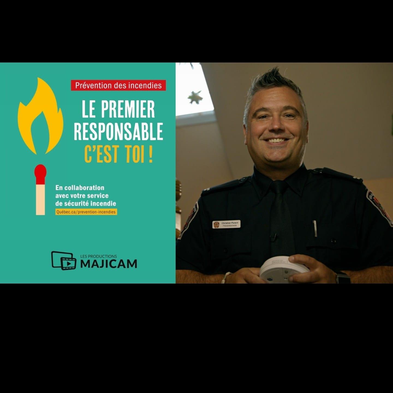 hristian Parent, préventionniste-pompier à la Ville de Rimouski.