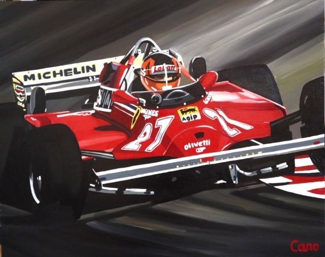 toile F1 Gilles Villeneuve