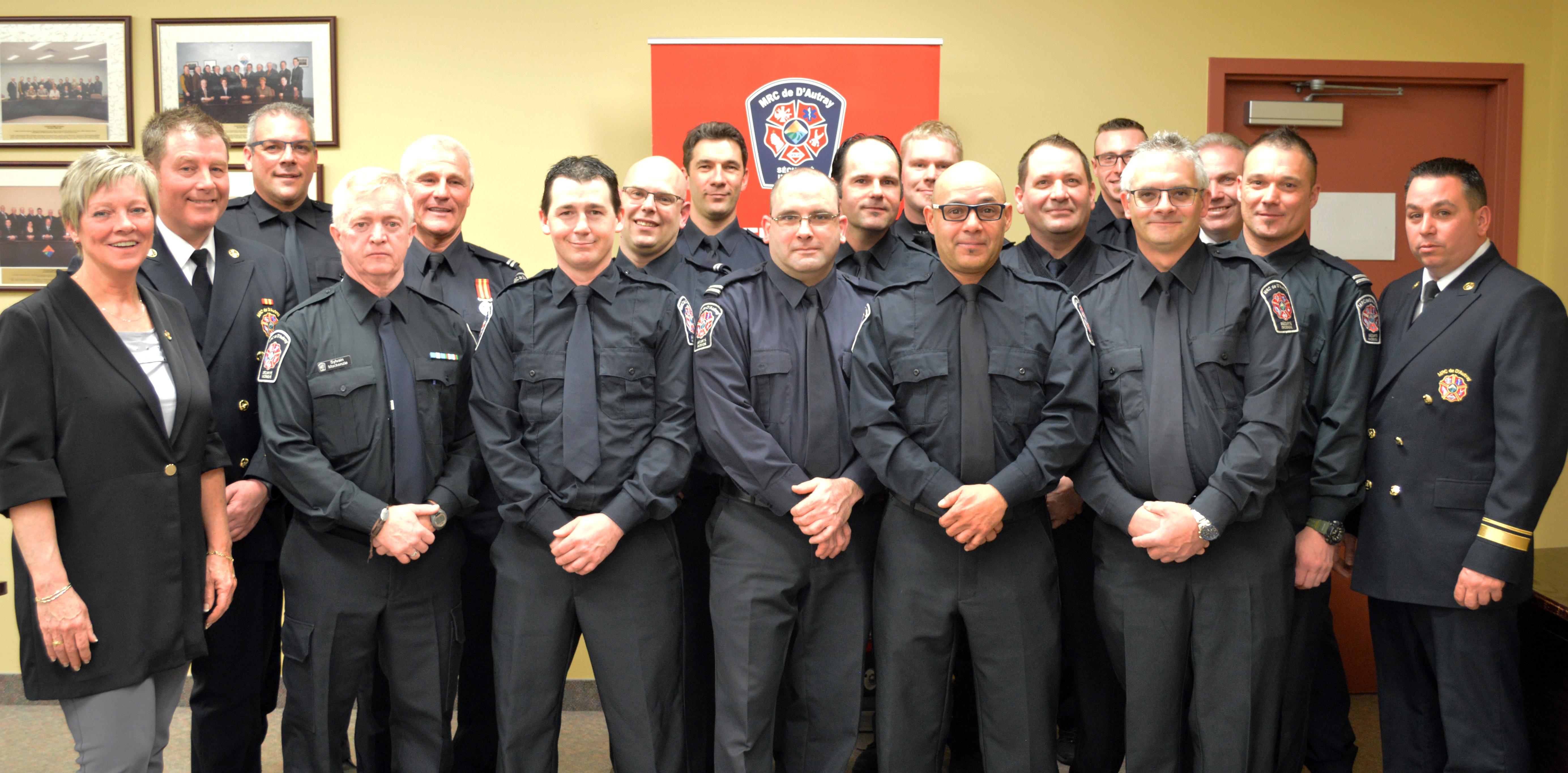 pompiers diplômés
