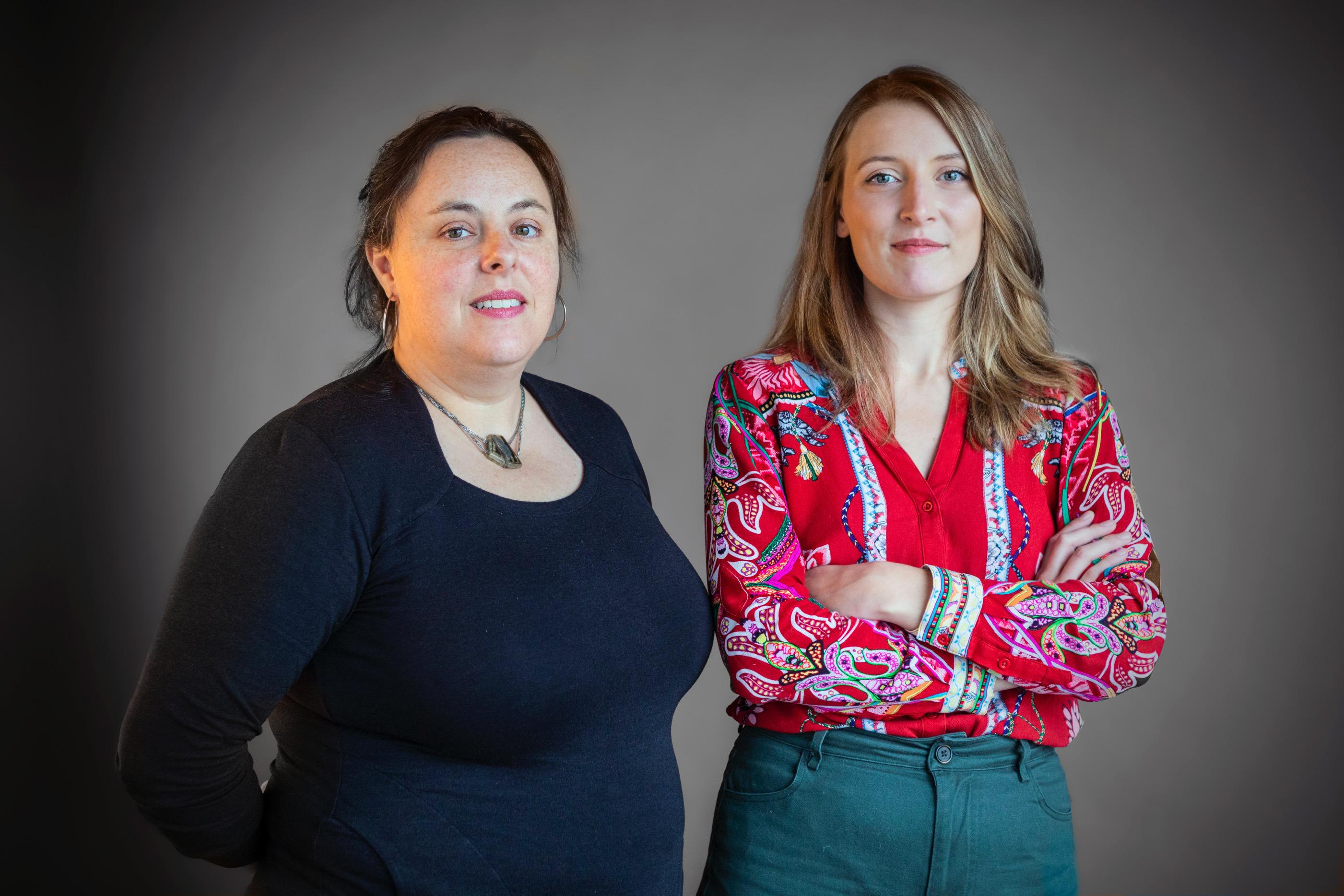 Geneviève Lévesque et Vinciane Cousin, coordonnatrices cogestionnaires de La Débrouille.