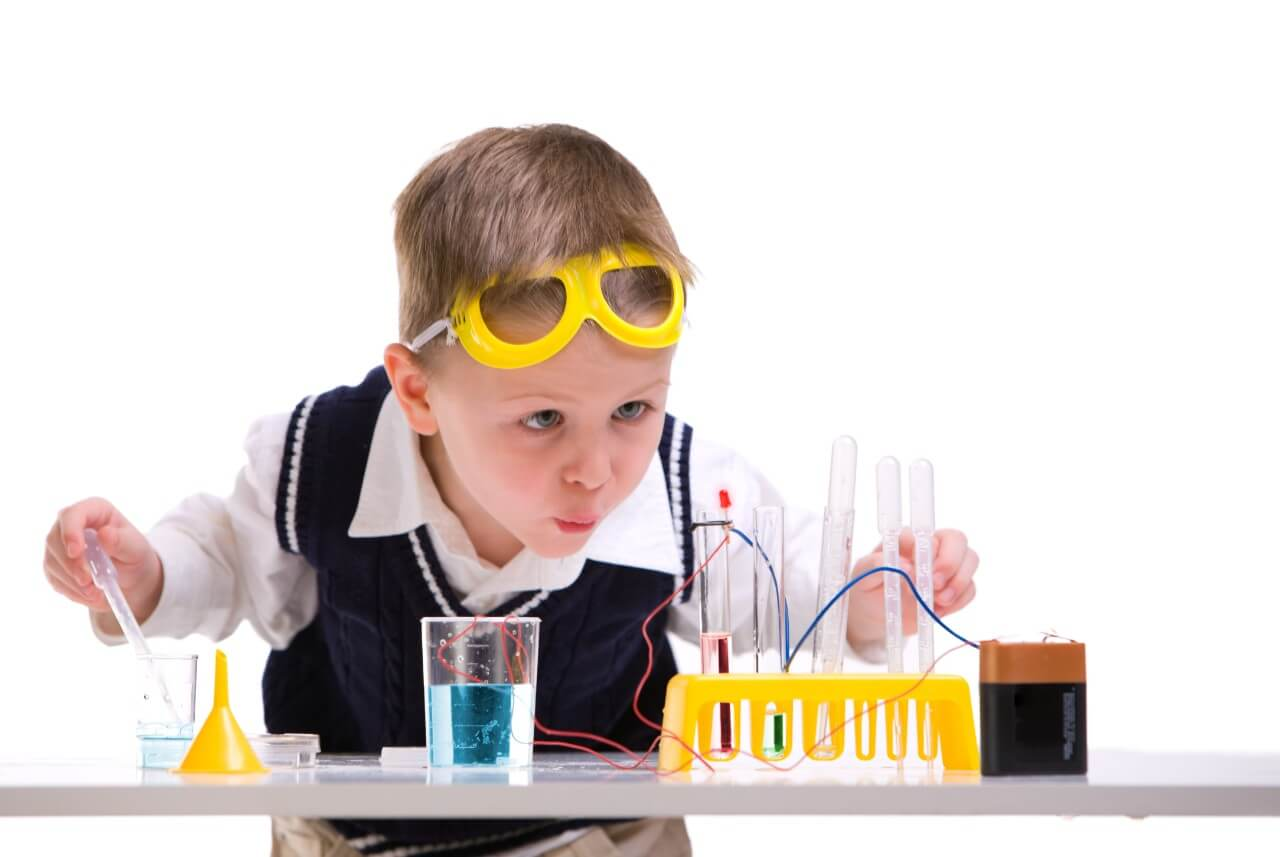 Science, jeune, expériences