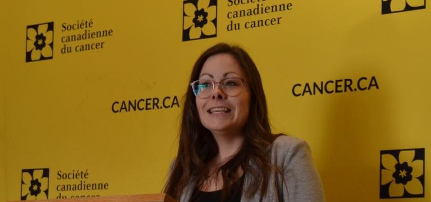 Fanny Ferland, coprésidente d'honneur du comité organisateur du Relais pour la vie.