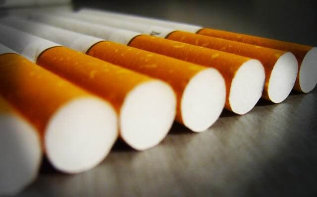 Cigarettes saisies