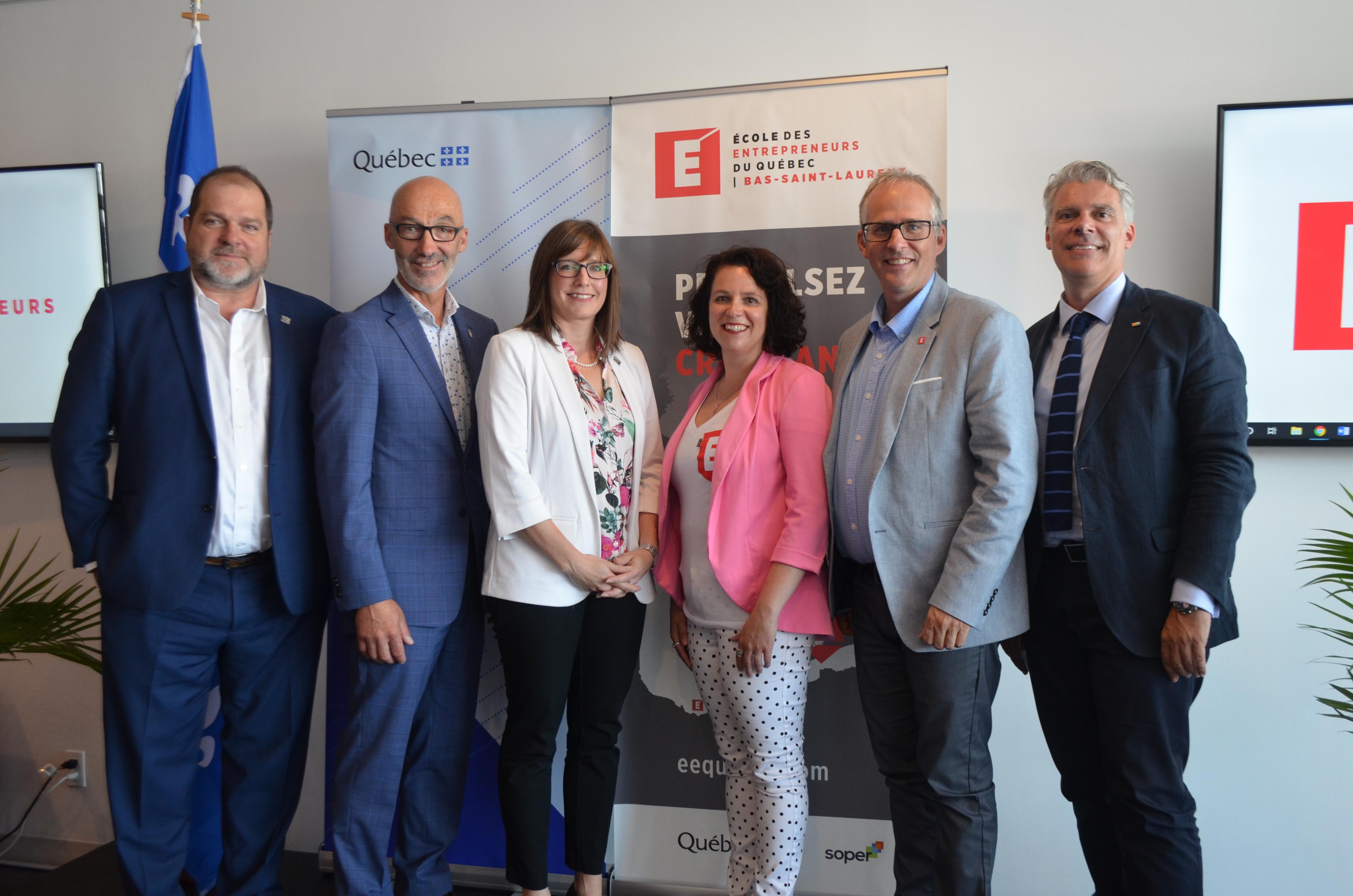 L'École des entrepreneurs du Québec (ÉEQ) a inauguré officiellement jeudi à Rimouski, son campus bas-laurentien