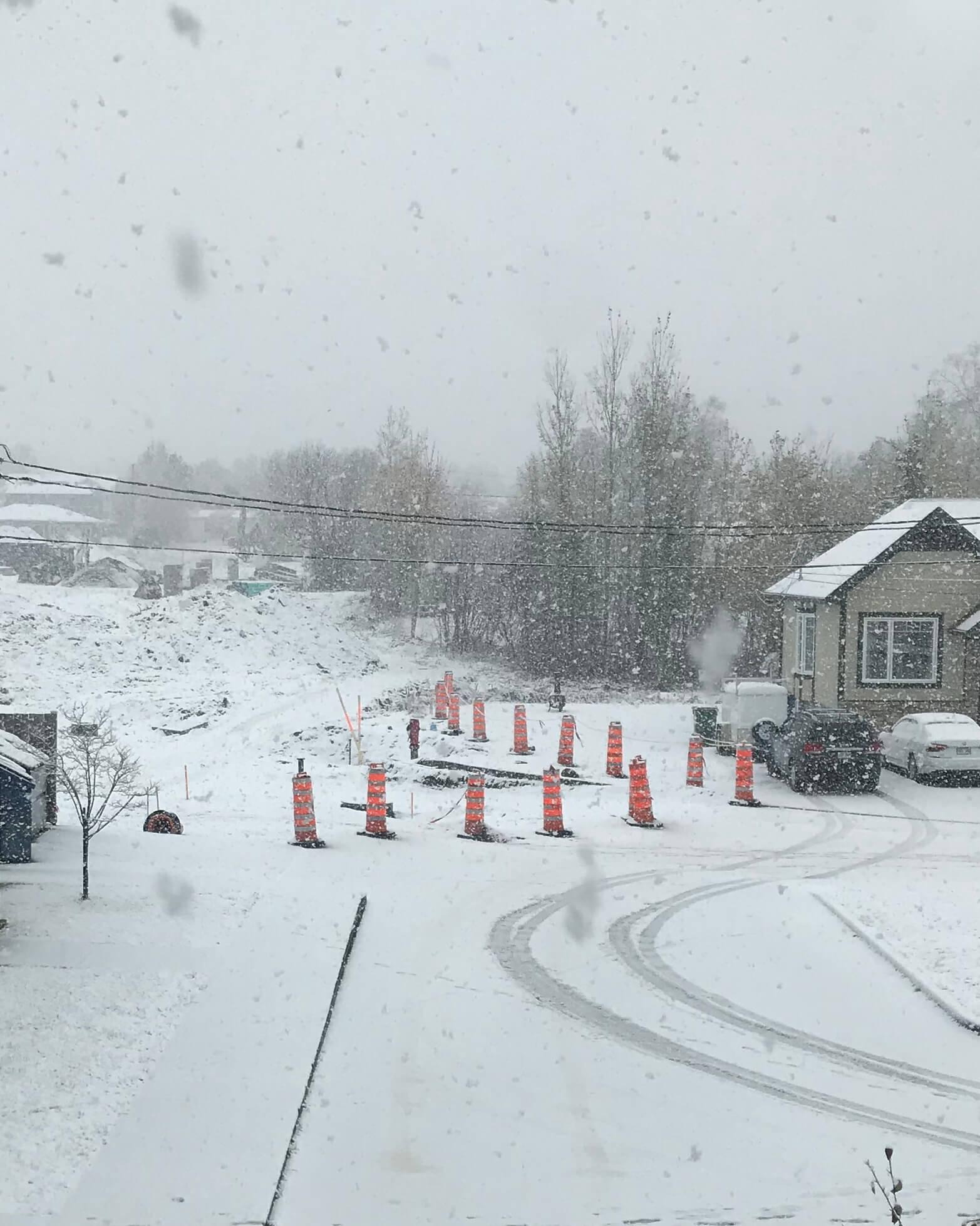 de la neige une premiere fois en 2018