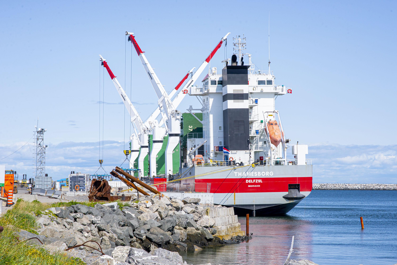 Quai commercial de Matane port