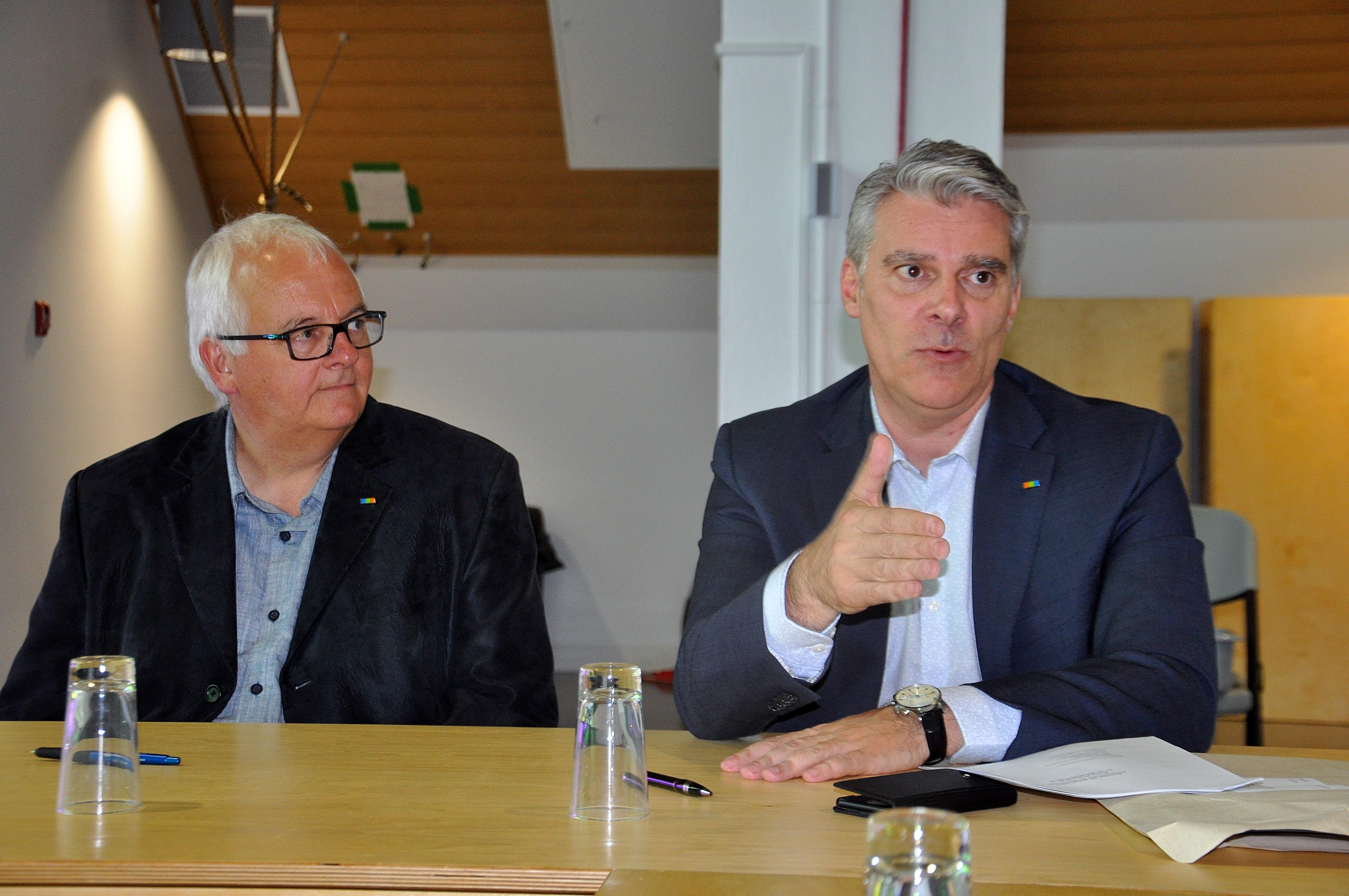 Jean Pouliot et Martin Beaulieu
