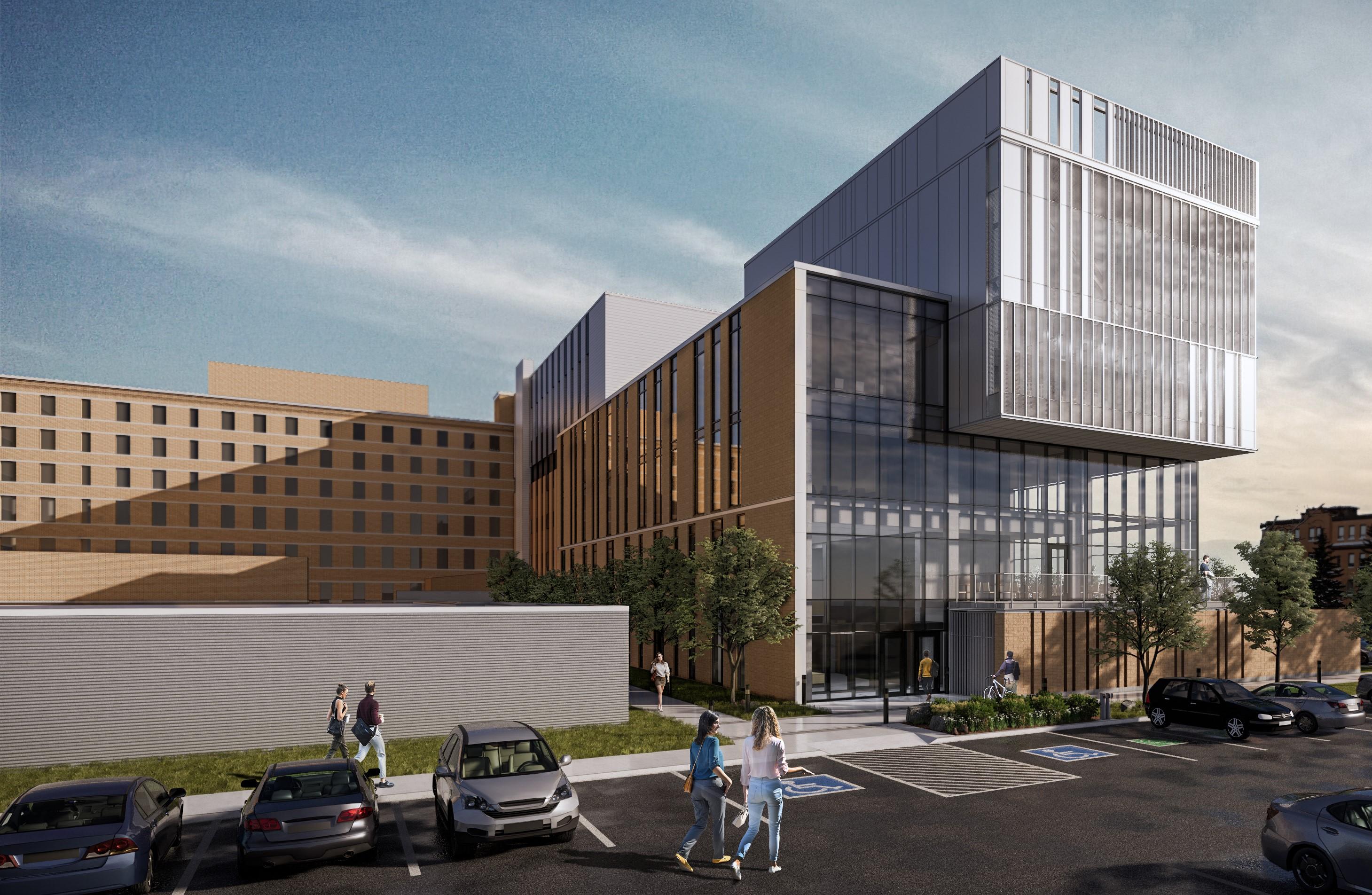 Pavillon d'enseignement préclinique de la Faculté de médecine de l'Université Laval sur le site du Centre hospitalier régional de Rimouski.