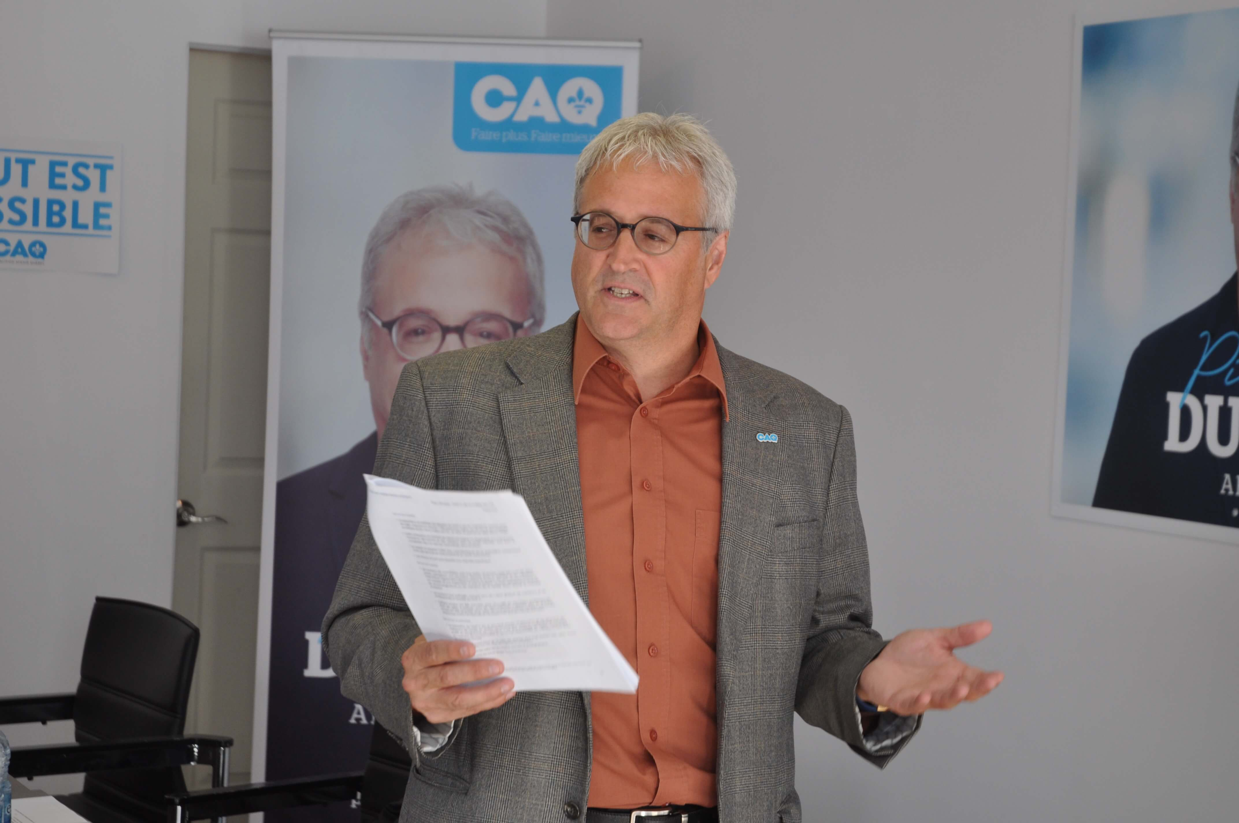 Pierre Dufour promet 7 M $ pour un nouveau GMF à Val-d'Or