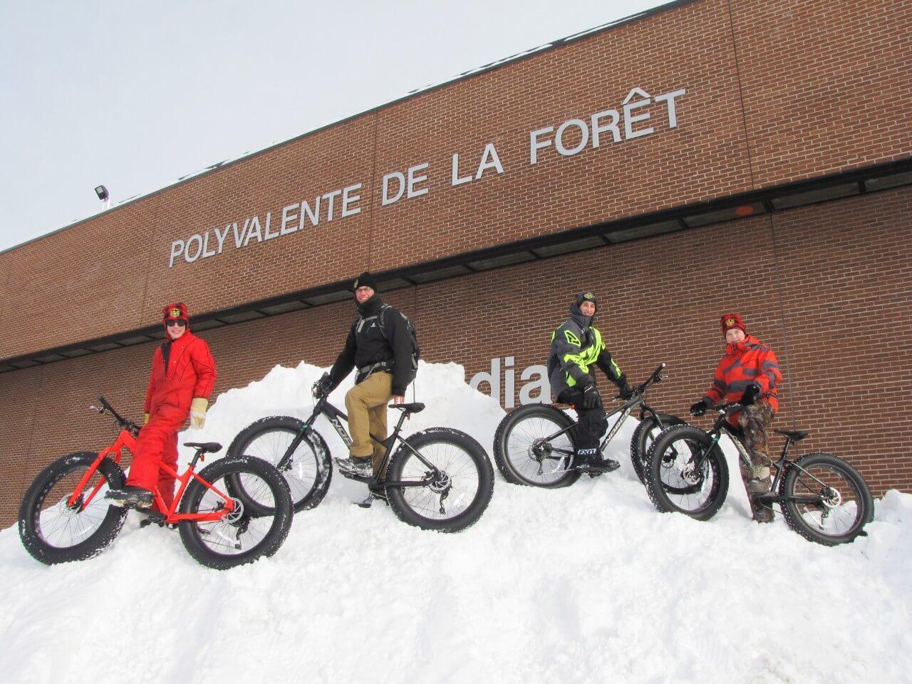 Coup de pouce pour l'entretien des fat bikes de La Forêt