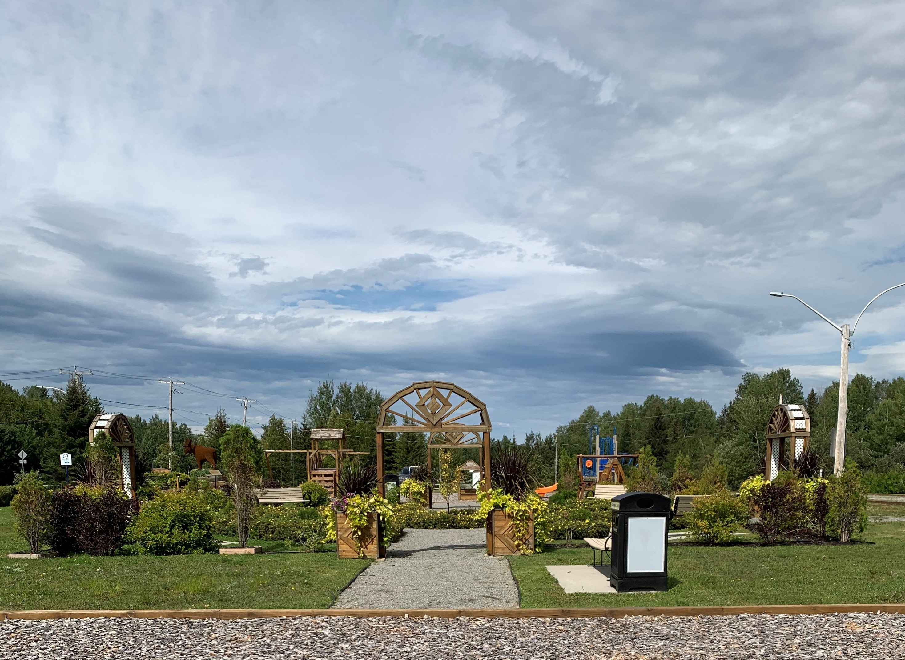 Preissac parc Tancrède Fleurons