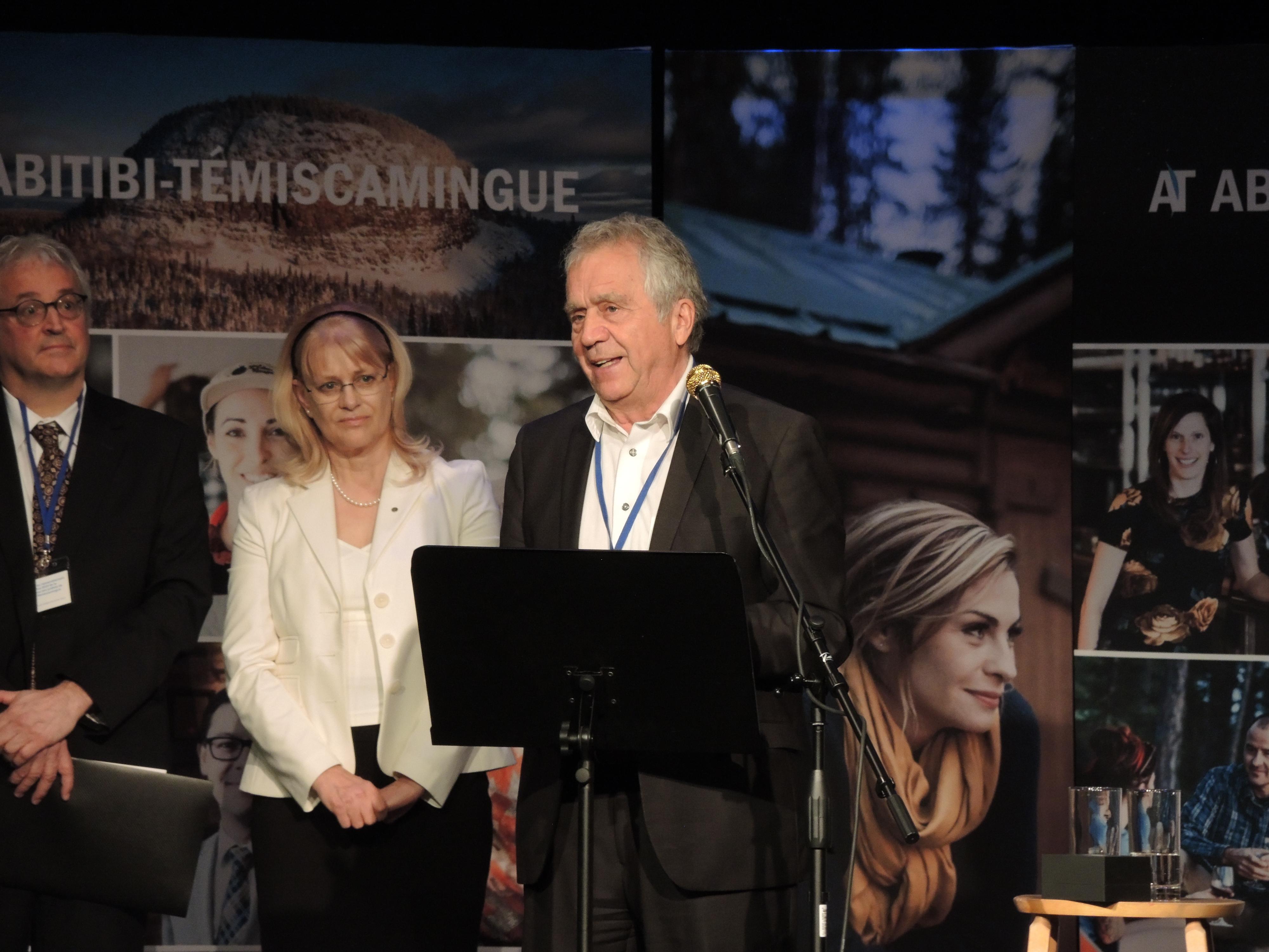 François Gendron Medaille regionale de l'Abitibi-Temiscamingue