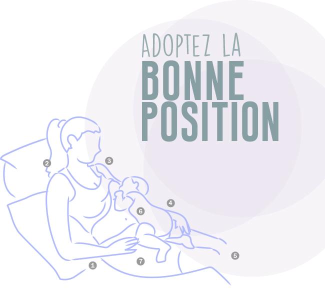 Adoptez la bonne position
