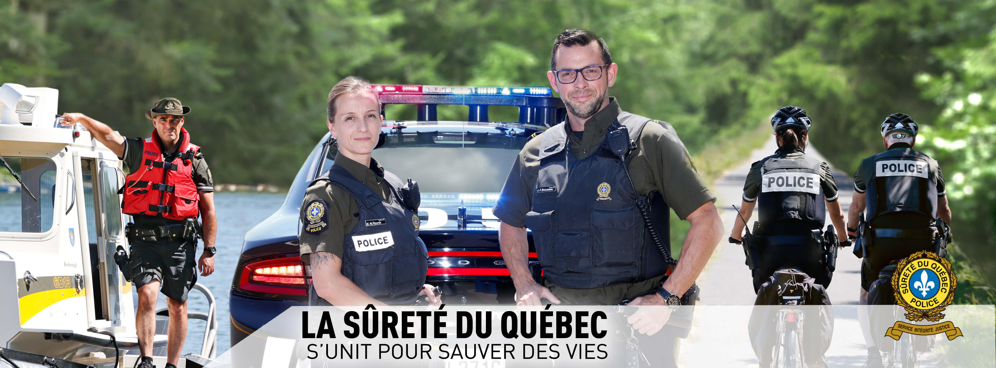 Sûreté du Québec périodes de vacances estivales