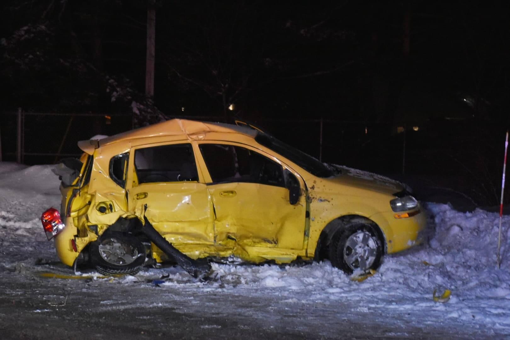 Accident mortel à Sainte-Julienne