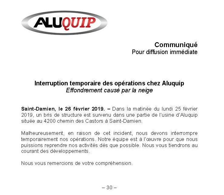 Aluquip Saint-Damien