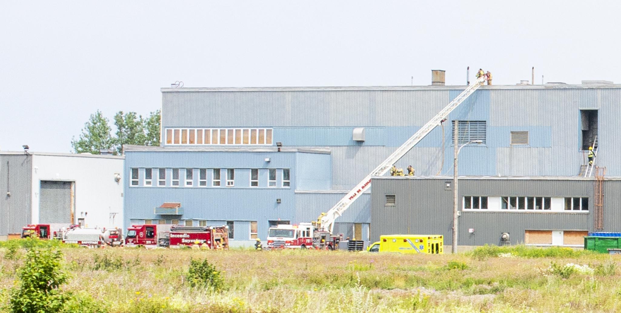 Incendie usine RockTenn Matane