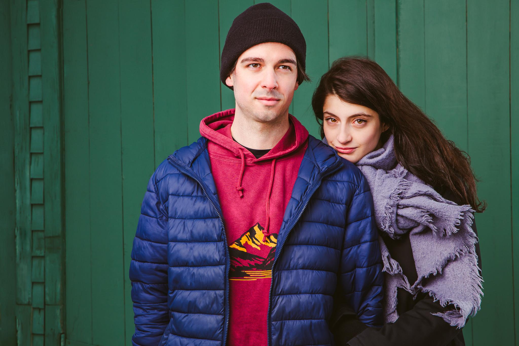 Les comédiens Steven Lee Potvin et Ariane Bellavance-Fafard