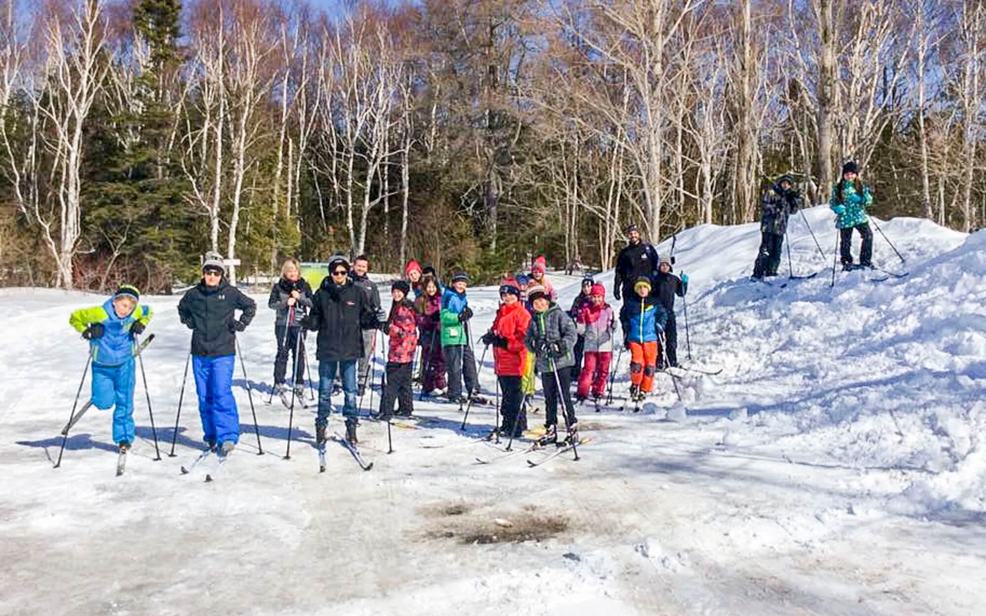 Programme ski de fond jeunes sport-études école Mrg-Belzile Saint-Ulric