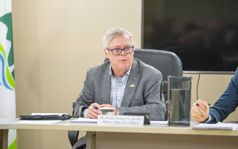 Denis Santerre maire de Baie-des-Sables