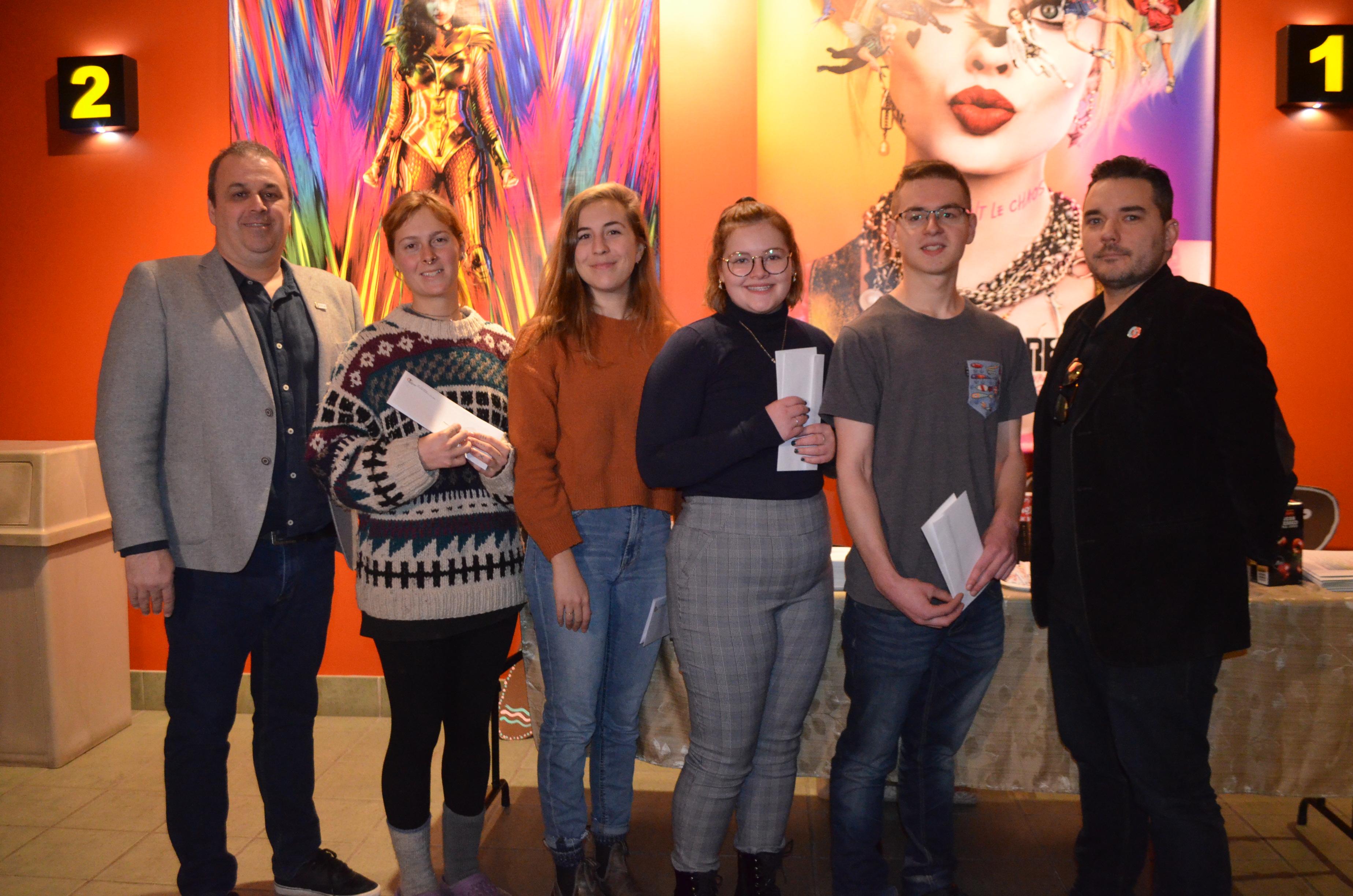 Quatre des cinq gagnants du concours « C'est quoi ton truc »