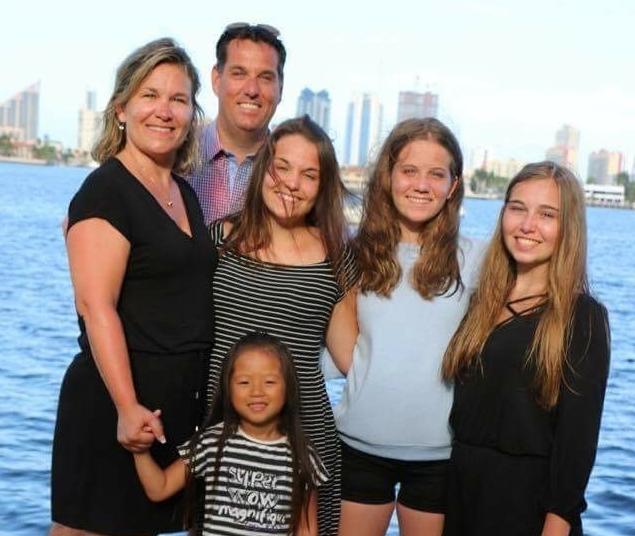 Sébastien Nadeau et sa famille