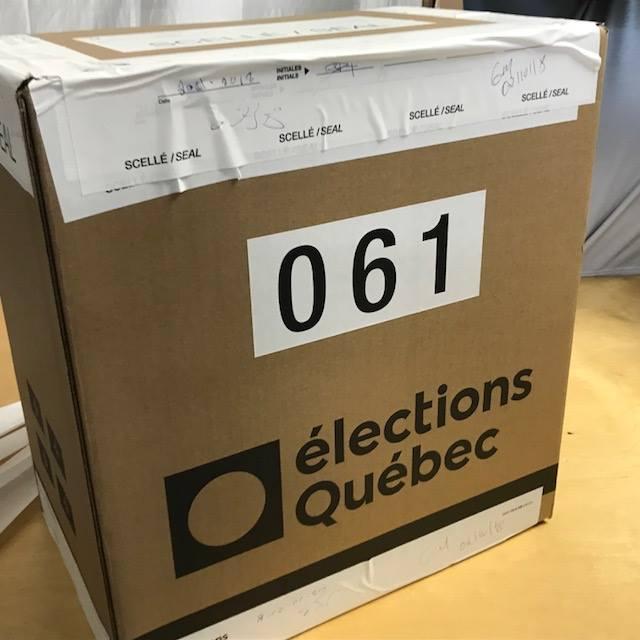 La boîte de scrutin #61 dans le comté de Gaspé.