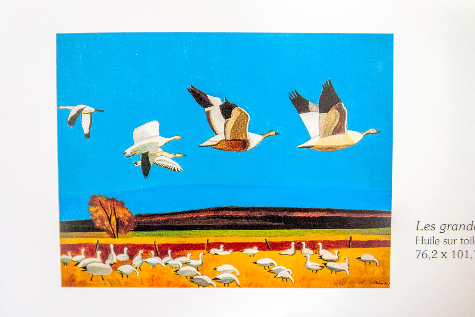 Claude Picher Les grandes oies blanches fresque murale