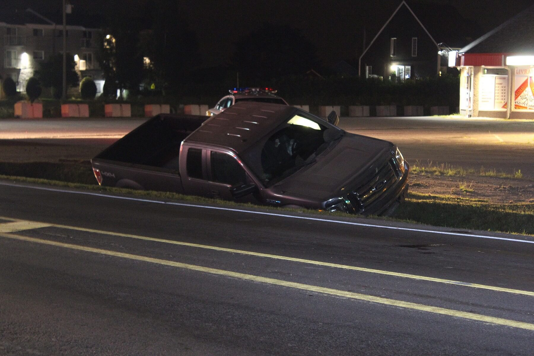 Un conducteur aurait perdu la maîtrise de son pick-up dans la nuit du 4 août 2018, à Saint-Ambroise-de-Kildare.