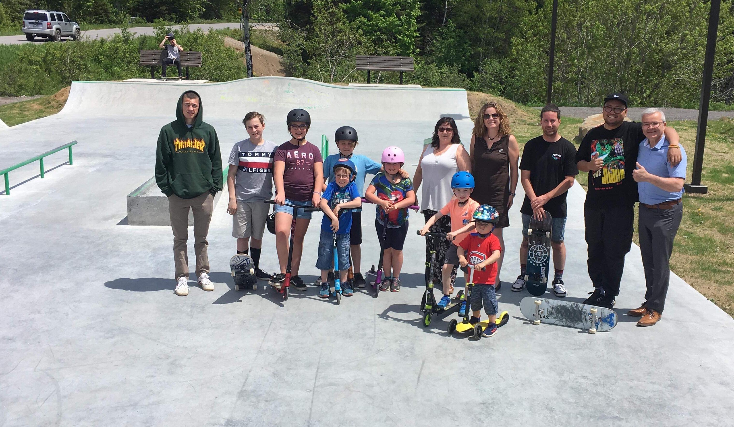 Inauguration skate park
