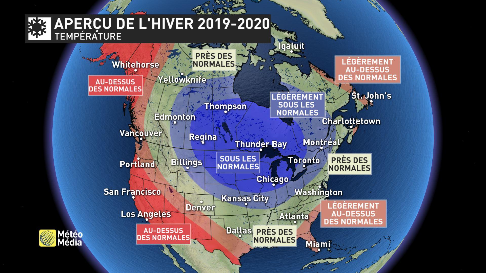 Meteo Amerique du Nord Hiver 2019