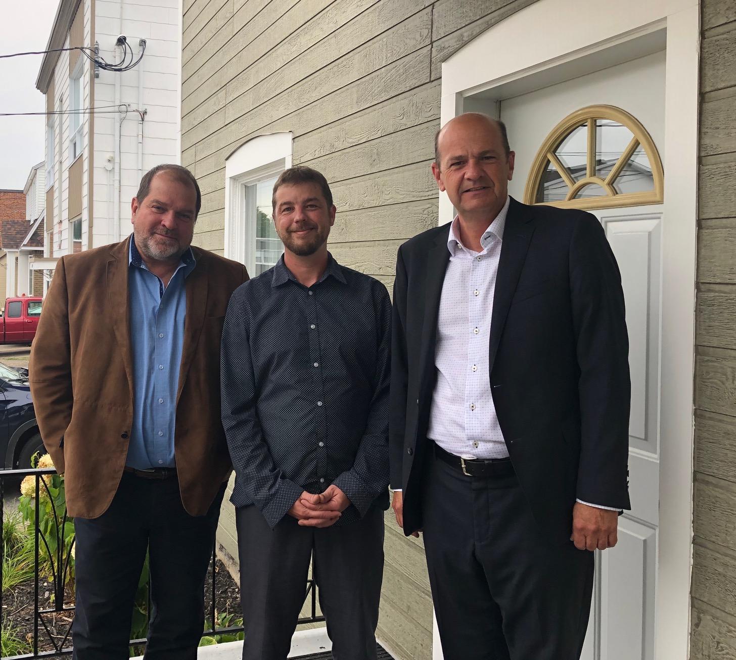 Harold Lebel, Louis-Marie Bédard, directeur général et Michel Plante,  président