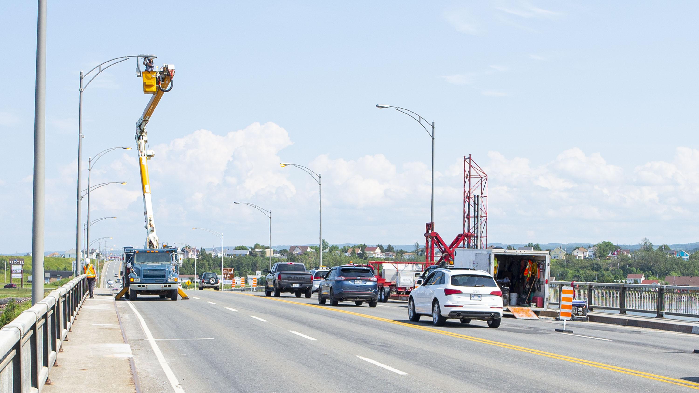 Travaux pont route 132 Matane