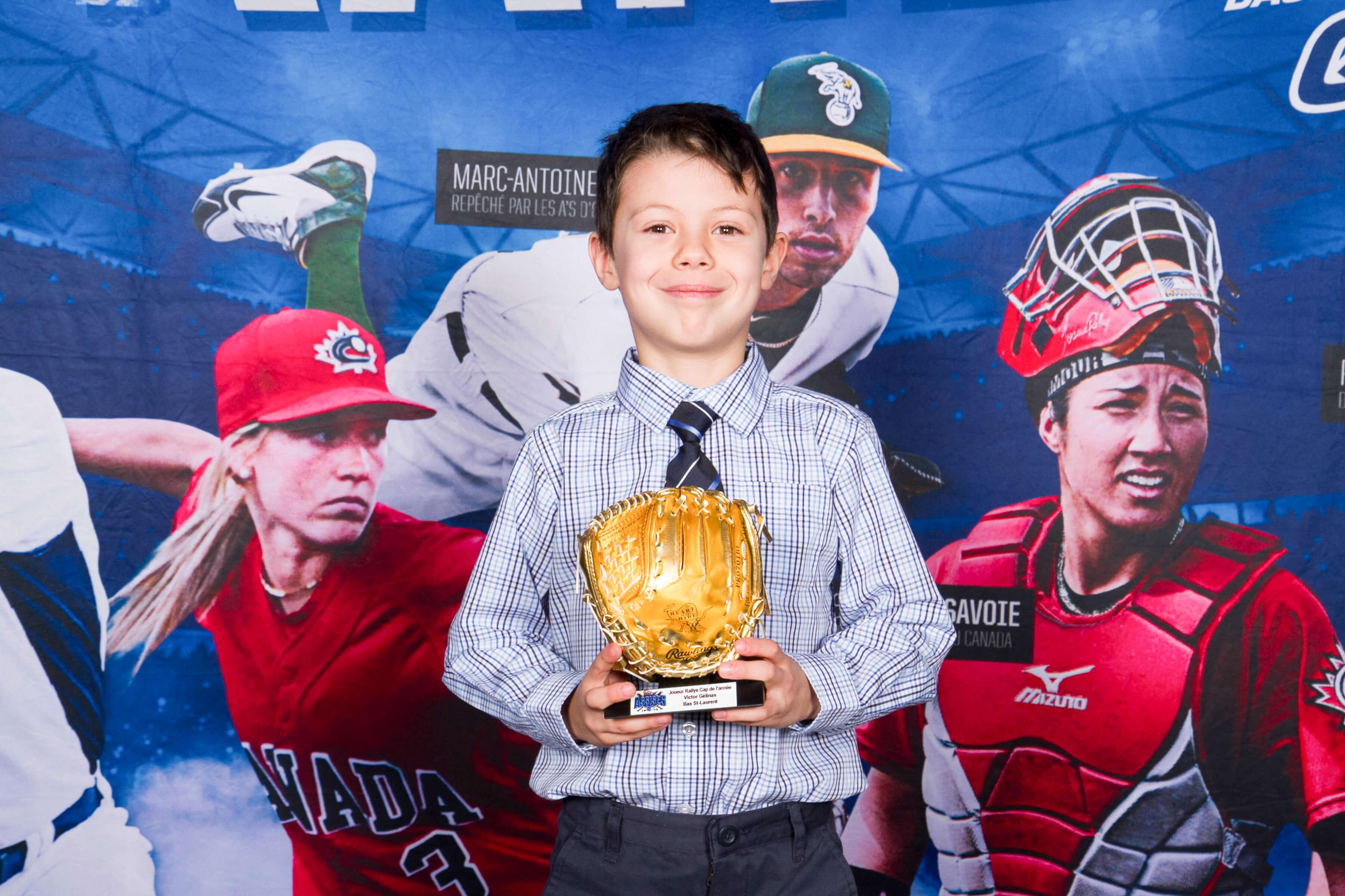 Victor Gélinas Baseball mineur Matane gala méritas